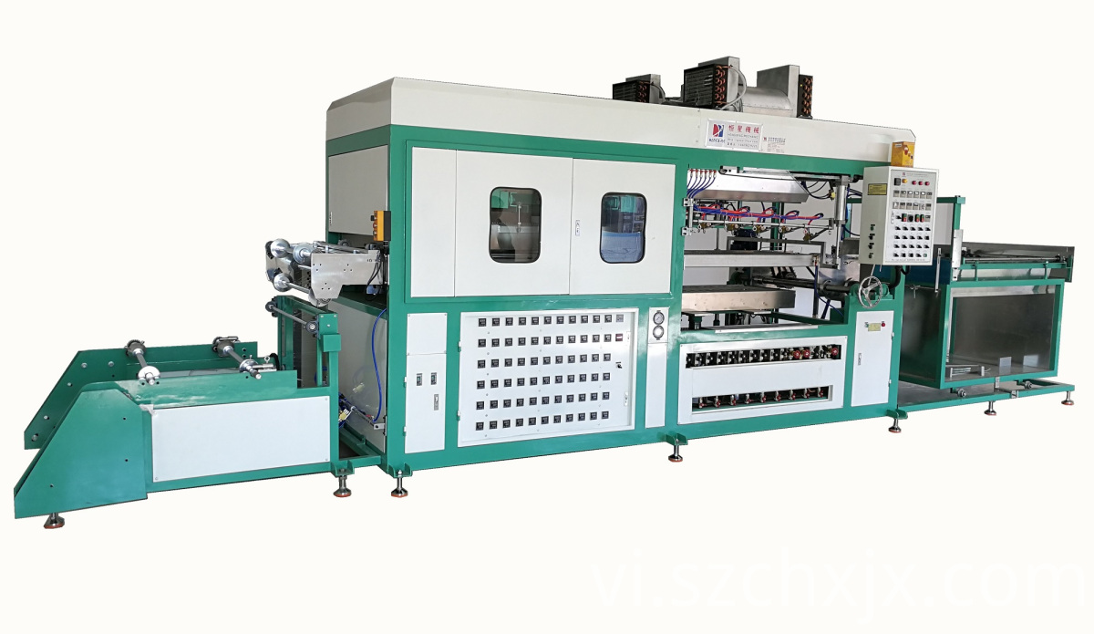 Fully automatic plastic vacuum molding machine