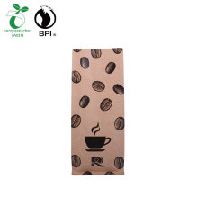 Compostabile richiudibile Kraft Paper Coffee Bag Custom Bag Produttore dove acquistare bio bag