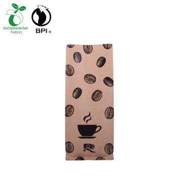 Compostável resealable Kraft Paper Coffee Bag Custom Bag Fabricante onde comprar bio bags
