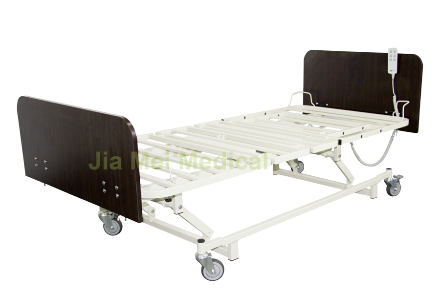 low height adjustable bed