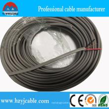Плоский кабель Изоляция из ПВХ двух сердечников Плоский кабель 300 / 500В Порт Нинбо в Шанхае