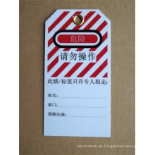 Utilizó la mejor tinta durable y fuerte anti-resistente clima reutilizable PVC bloqueo conjunto de herramientas