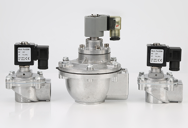 Different size of DC24V CA series right angle pulse solenoid valve Nitrile/NBR or Viton Diaphragm: