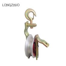 Polia de suspensão do cabo de roda do rolo do gancho de cabo única