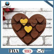 Hot Sale Silicone Chocolate Mold Heart Silicone Ice Mold Cube Tray Si01