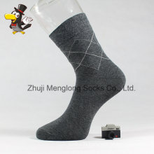 Classic Diamond Pattern Man Crew Cotton Socks