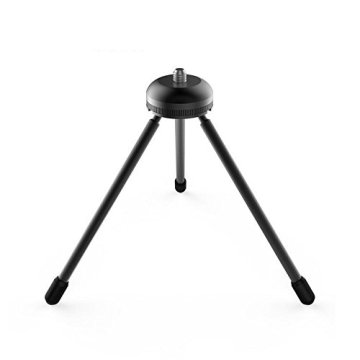 1/4 lemparan lubang Mini Portable Tripod Black
