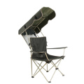 Outdoor leisure camping chair with sunshade easy carry folding metal chair on sale