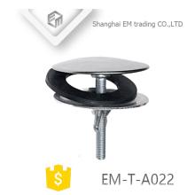 EM-T-A022 Sanitery ware peças de drenagem de água SUS banheiro pia plugs com arruela de borracha