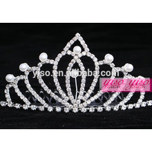 fashion pearl princess real diamond bridal tiaras