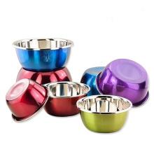 saladier à dessert écologique en acier inoxydable de couleur respectueuse de l'environnement
