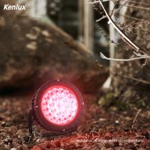 Lâmpada LED RGB com mudança automática de cor para jardim