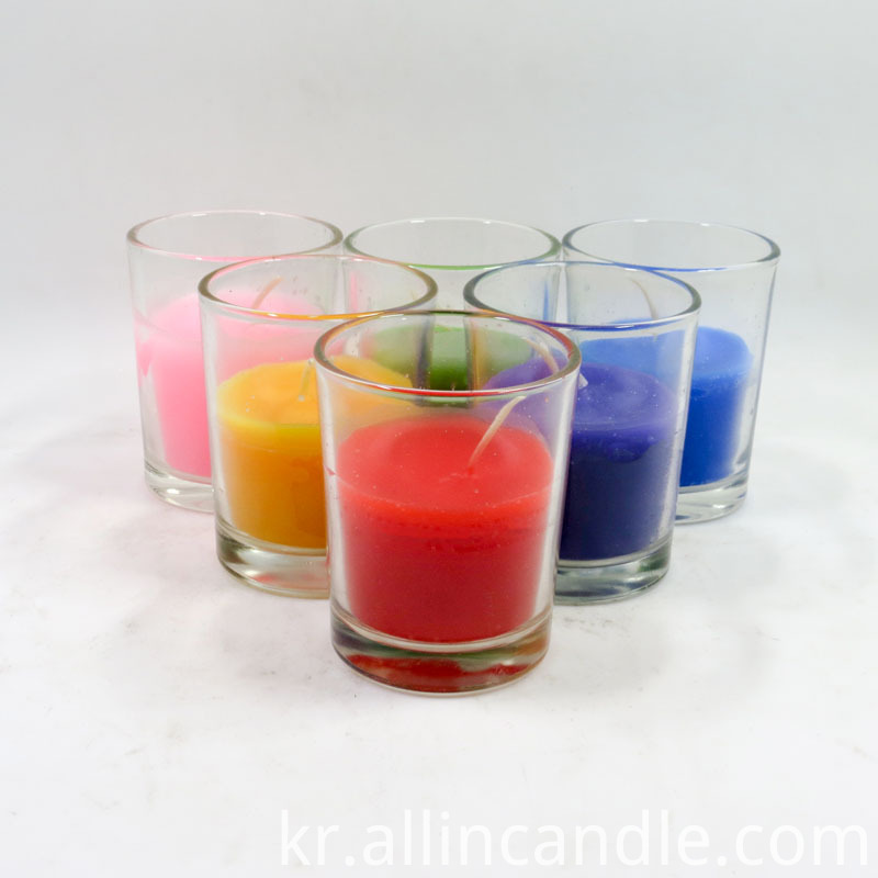 unscented glass candle