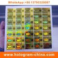 Etiquetas anti-falsas do holograma da segurança com impressão do código de Qr