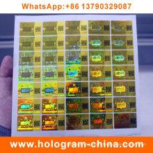 Étiquette laser hologramme 3D personnalisée avec code Qr