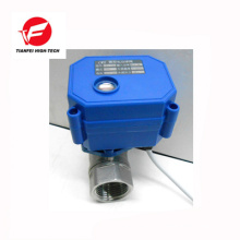 3.6v 5v 6v femelle dn15 ss304 CWX-15N électrique boule en acier inoxydable vanne