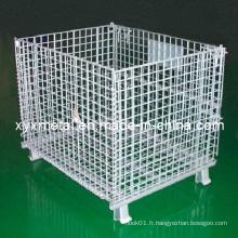 Cage d'entreposage pliante en acier galvanisé