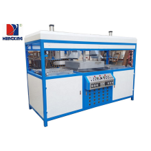 Double stations plastic packaging blister forming machine
