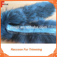 Dyed Single Color Raccoon Fur, Real fur trim