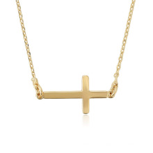 44712 Xuping 18k jewellery new designed 18k gold plated long cross shaped Catholic necklace