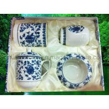 Taza de té de porcelana de alta calidad conjunto (6615-007)