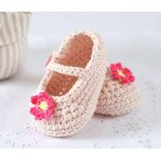 CROCHET PATTERN Baby Shoes Mary Janes handmade