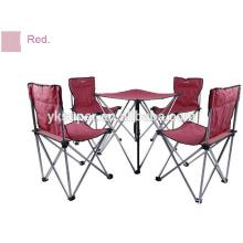 Mesa de acampamento de conjunto de jardim 2015 e conjunto de cadeira de pesca dobrável