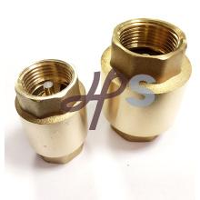 Válvula de retención de resorte vertical sin retorno de latón con núcleo de latón