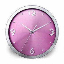Decorative Metal Wall Clock, Powered by AA Battery, Customized Dials are Accepted