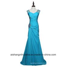 Женщины Sheathfloor Длина Шифон Бисером Длинное Вечернее Платье
