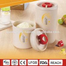 Wheat and rice hulls fiber,biological degradable material jar for milk
