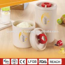 Trigo e arroz fibra de cascos, frasco de material degradável biológica para leite