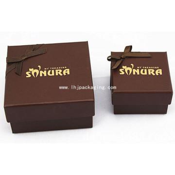 Caja elegante de papel de embalaje de chocolate con estampación de papel de aluminio amarillo