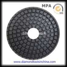 Almofadas de polimento molhado flexíveis de diamante