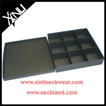 Custom Black Tie Packaging Boxes Red Ties Necktie Gift Box