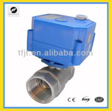 Válvula de esfera elétrica motorizada operada a motor de aço inoxidável DC12V 3/4 de polegada 3/4 polegada com retorno para água