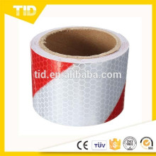 Chevron Reflective Tape, honey comb, white & red