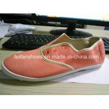 Günstige Damen Freizeitschuhe Injection Canvas Schuhe Stock (FF329-9)