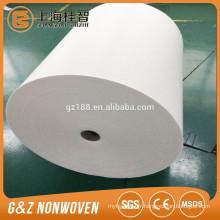 Spunlace imperméable 100% polyester Spunlace non tissé d'énormes rouleaux