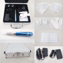 Permanent Eyebrow Pen Makeup Tattoo Machine Set Kits w/ Needles Tips