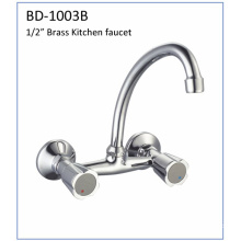 Bd1003b Double Handles Brass Kitchen Faucet
