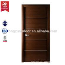 Nouveau produit de porte de design Porte de salle de bains en PVC