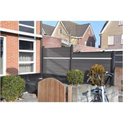 Top quality fences made of wood-plastic composite
