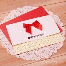 Customized Wedding Invitation Crad Greeting Card Printing with Envelope