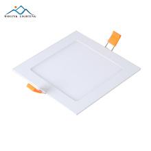 Wolink Бесплатный образец квадрат 6 дюймов тонкий утопленный светодиодный свет панели 6 Вт 12 Вт 18 Вт