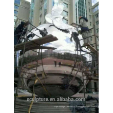 Urban large outdoor stainless steel 304L balls metal sphere polishing grinding