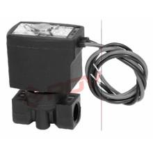 Válvula de solenoide en miniatura de plástico blanco 3mm normalmente cerrado