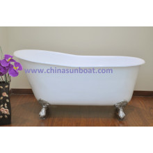 Independent Type Cast Iron Enamel Bathtub Bathtub High Enhance The Large-Sized Apartment Enamel Bathtub