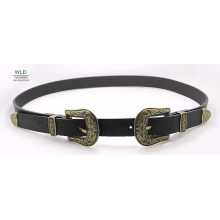 Women′s Western Fashion Belt with Two Buckles Ky6281