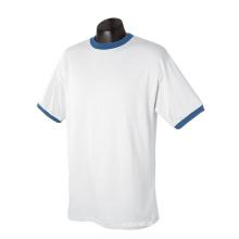 Organische Baumwolle, die kein Marken-Jersey-Wecker-T-Shirt läuft